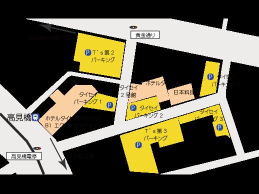 鹿児島中央駅近く駐車場