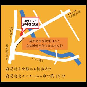 ホテル周辺図